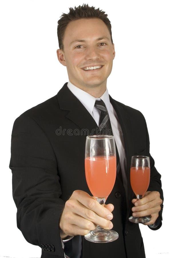 Vindo a nossa banquete ou reunião do negócio imagem de stock