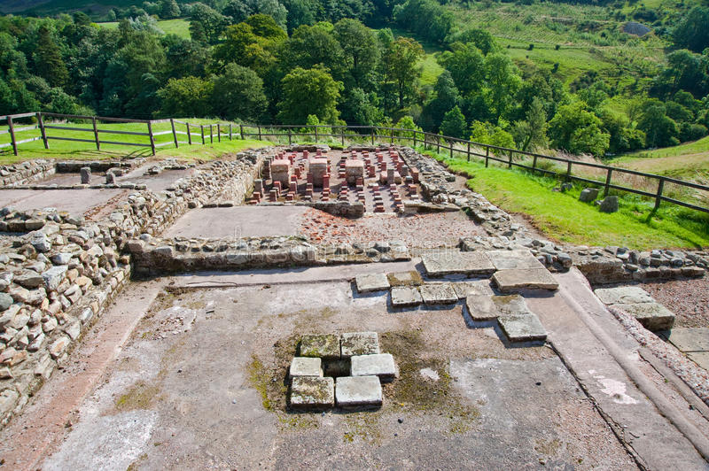 Vindolanda ruins stock photography