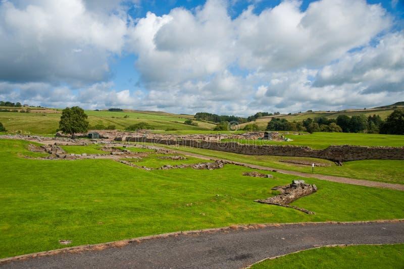 Vindolanda ruins royalty free stock photography