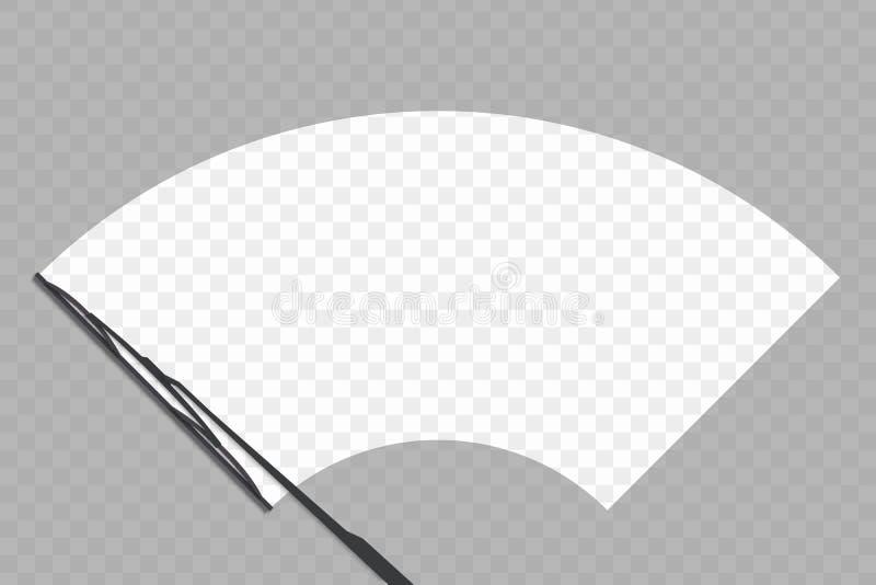 vindrutakontrolltorkare royaltyfri illustrationer