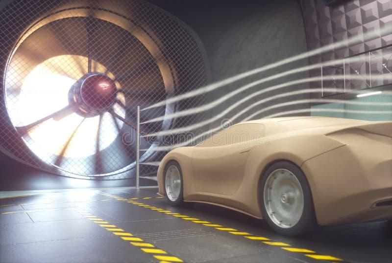 Vindtunnel Clay Car Design Transportation arkivbilder