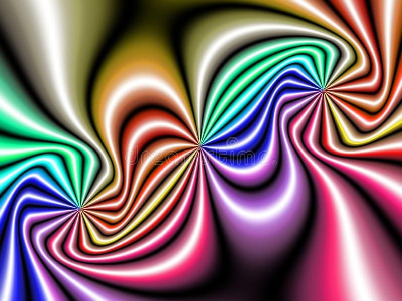 Vindtunnel, fractalstil royaltyfri illustrationer