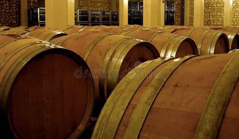Download Vine Fermentation In Oak Barrels Stock Photo - Image: 5066406