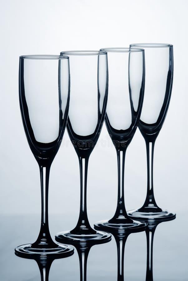 Vine Glass. Set with back light stock images