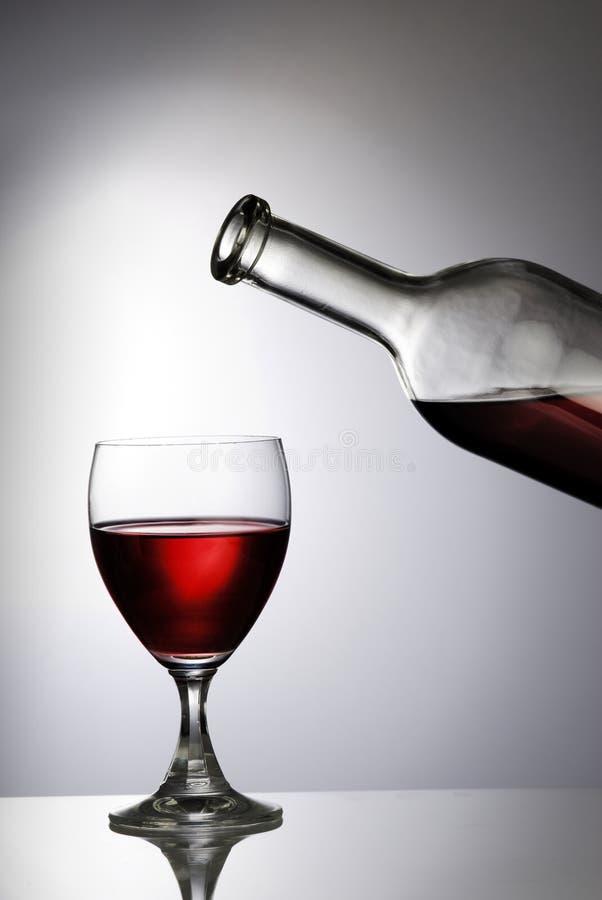 Vine Glass. Set with back light stock photos