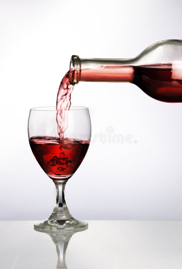 Vine Glass. Set with back light royalty free stock photos