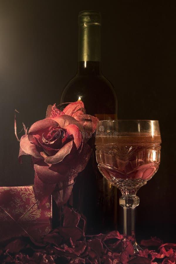 Vine och exponeringsglas royaltyfria bilder