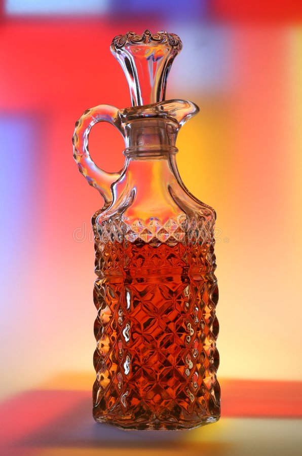 Vinegar with Abstract Background royalty free stock photos