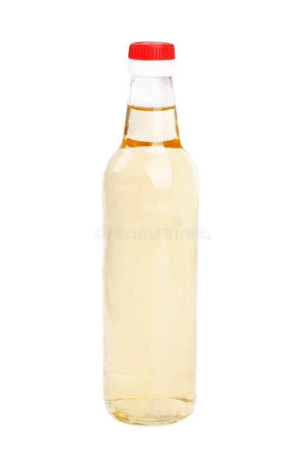 Vinegar bottles isolation on white background stock photos