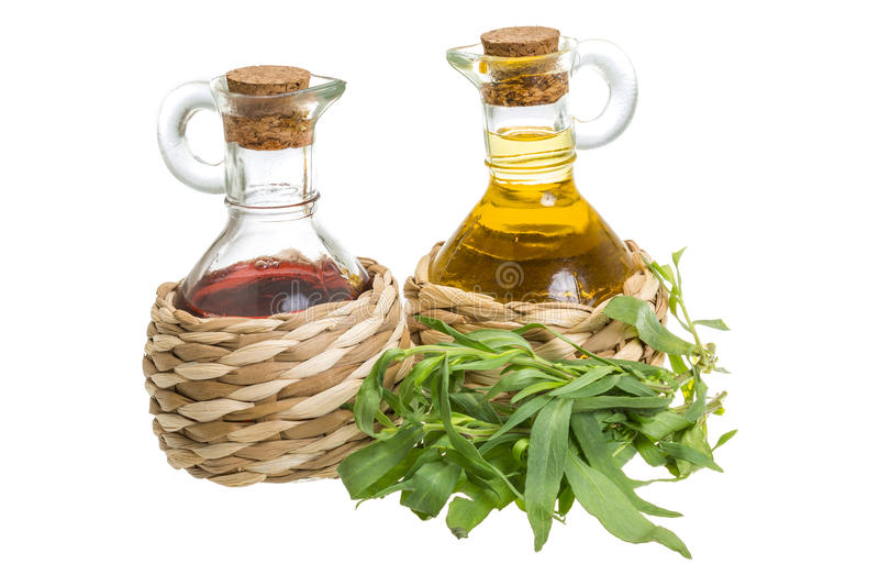 Vinegar and oil royalty free stock photography