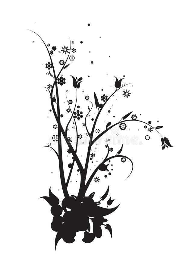 Download Vines and leaves stock vector. Illustration of grow, silhouette - 1733526