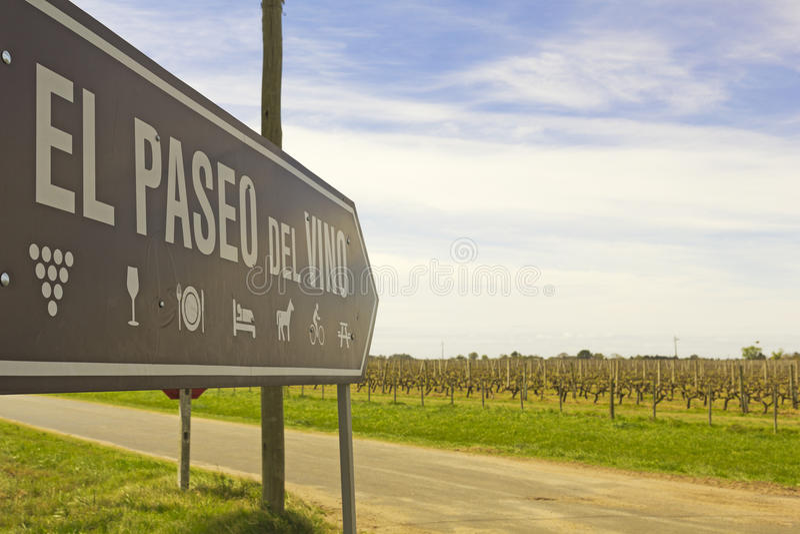 Vinet går, Uruguay arkivbilder