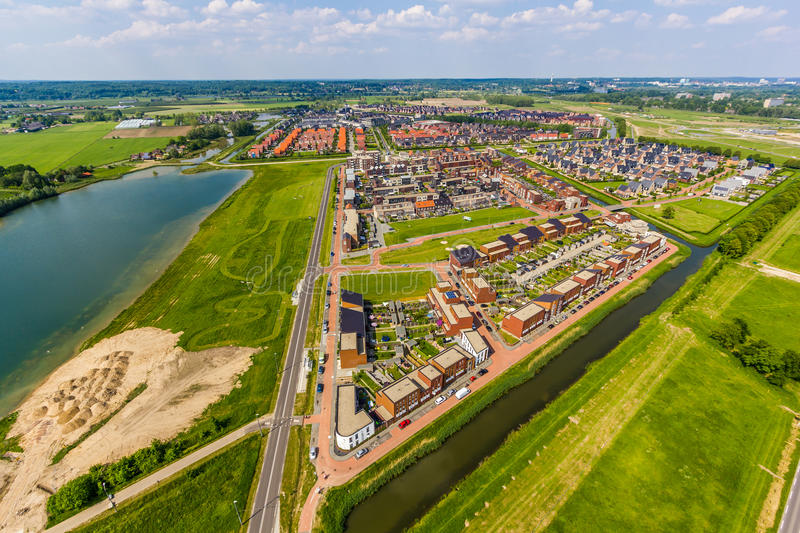 Vinex district Schuytgraaf. Schuytgraaf the new Vinex suburb of Arnhem, consists of numerous smaller neighborhoods, called fields, each with its own identity stock photo