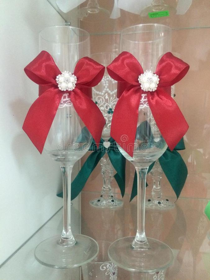 vinexponeringsglas för champagne royaltyfri fotografi