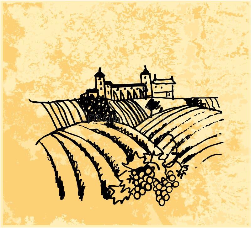 Download Vineyard stock vector. Illustration of nature, paper - 25671179