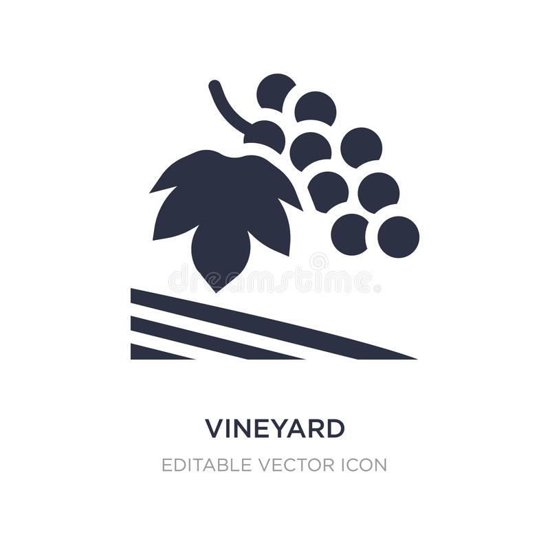 vineyard icon on white background. Simple element illustration from Nature concept vector illustration