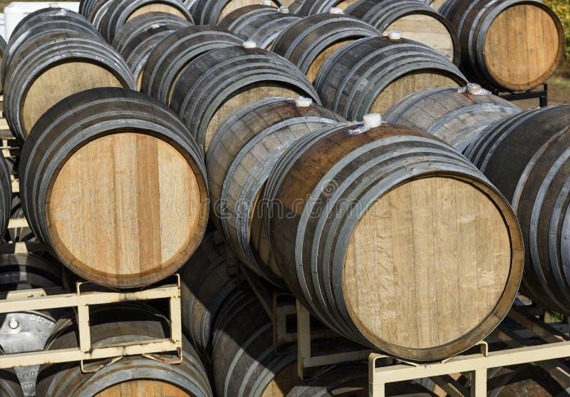 Vineyard Oak Barrels, Mid-Willamette Valley, Marion County, Western Oregon. Wine Oak Barrels, Mid-Willamette Valley royalty free stock images