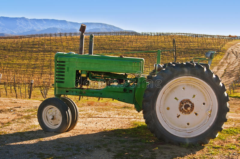 Vineyard Tractor royalty free stock images
