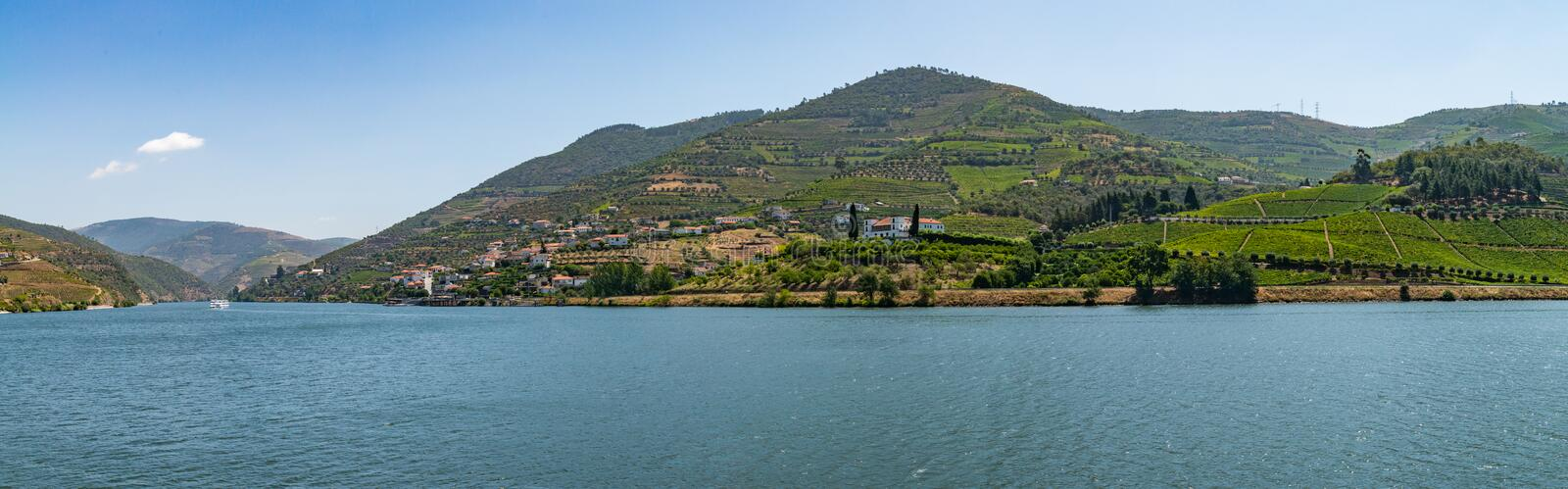 View of Douro Valley, Portugal. Vineyards are on a hills, view of Douro Valley, Portugal royalty free stock photo