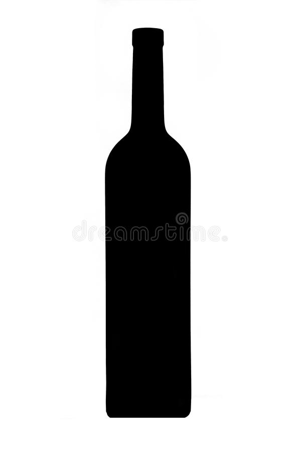 Vinflaska royaltyfri bild