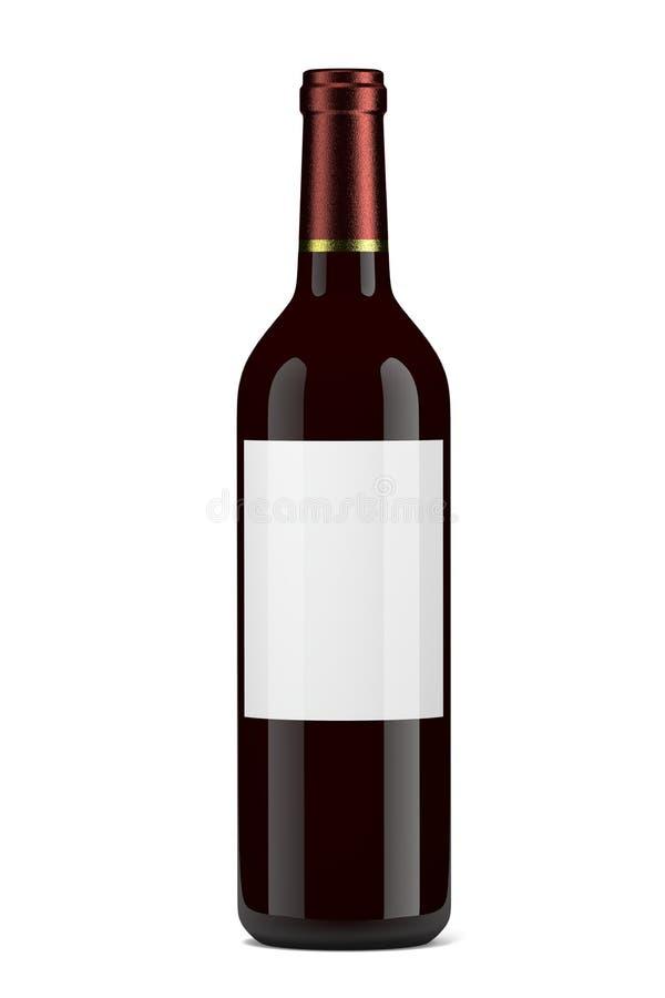 Vinflaska vektor illustrationer
