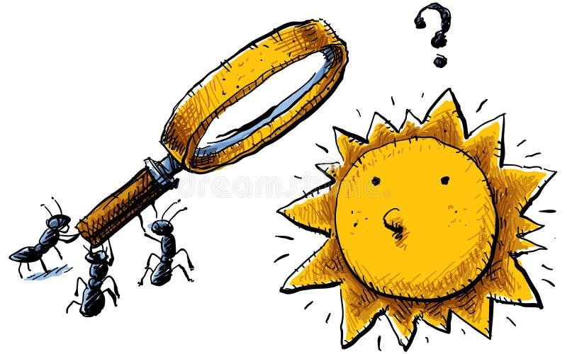 Vingança da formiga ilustração stock