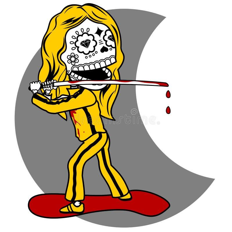 Vingança dos esqueletos ilustração royalty free
