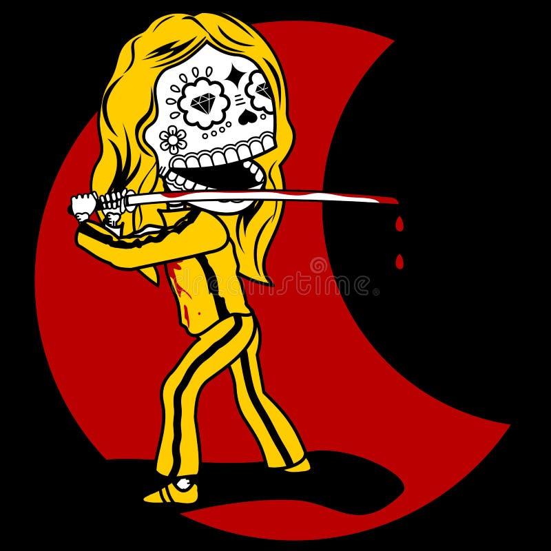Vingança dos esqueletos ilustração stock