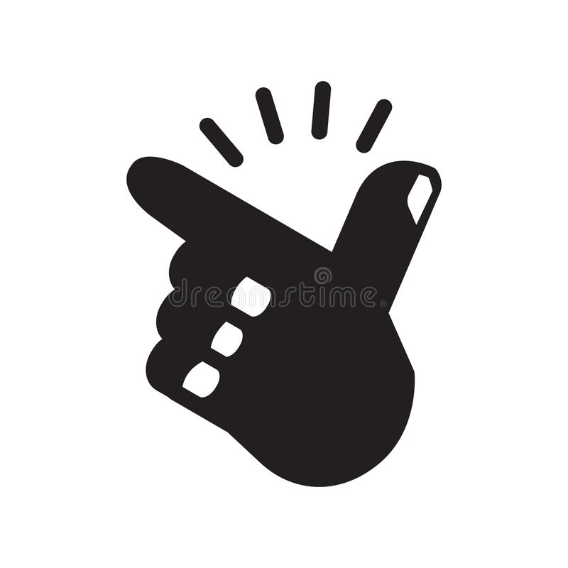 Vinger Brekend pictogram, vectorillustratie vector illustratie