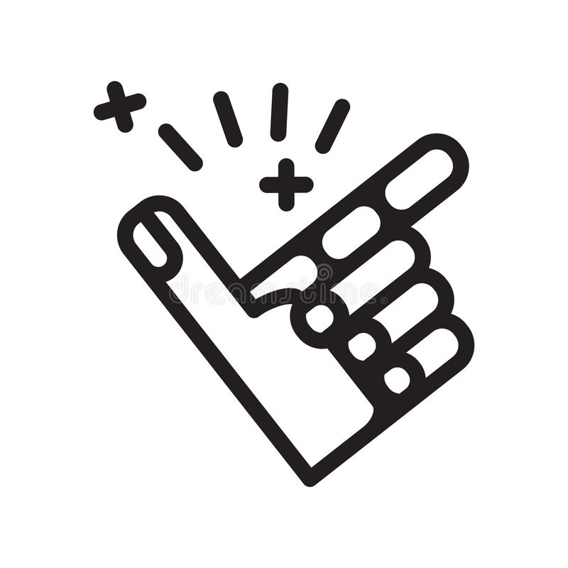 Vinger Brekend pictogram, vectorillustratie stock illustratie