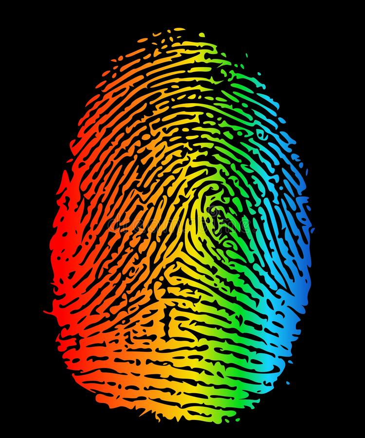 Vingerafdruk LGBT royalty-vrije illustratie