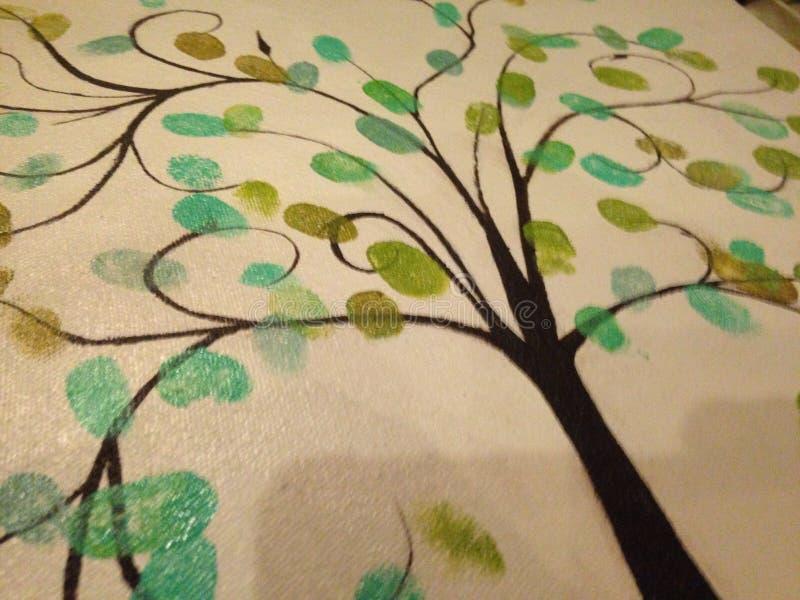 Vingerafdrukboom royalty-vrije stock afbeelding