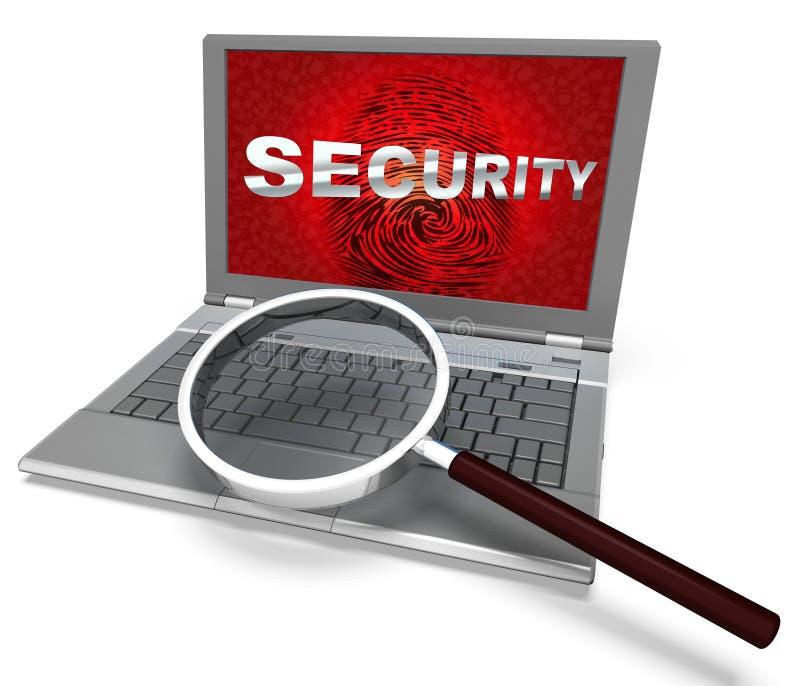 Vingerafdruklogin het Slimme Biometrische Veiligheid 3d Teruggeven royalty-vrije illustratie