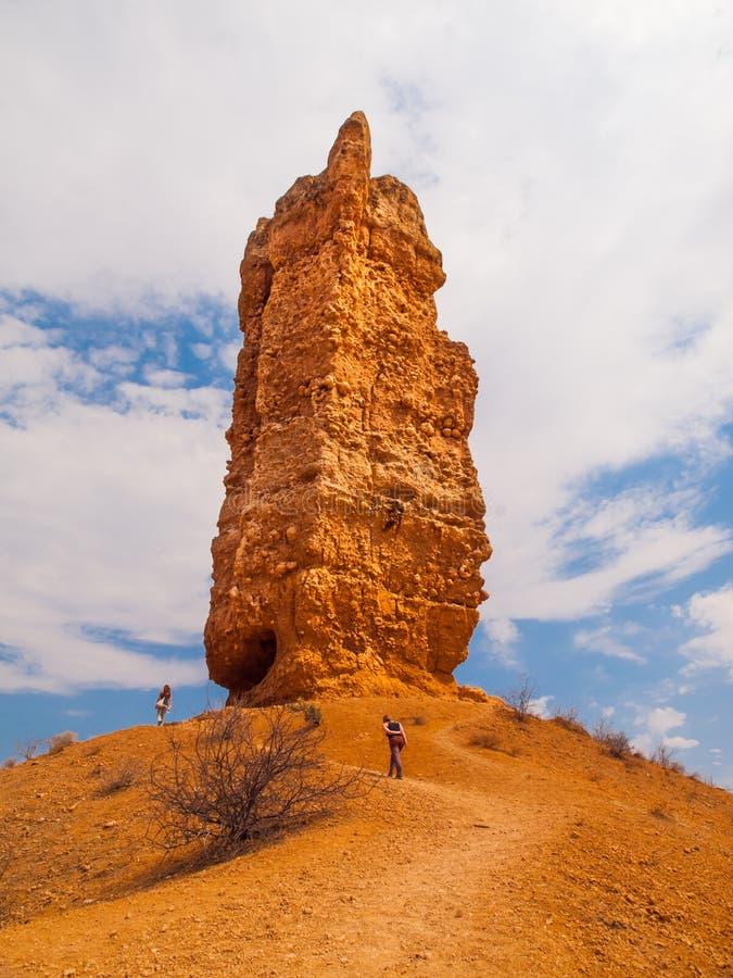 Vingerklip in namibian Damaraland royalty-vrije stock fotografie