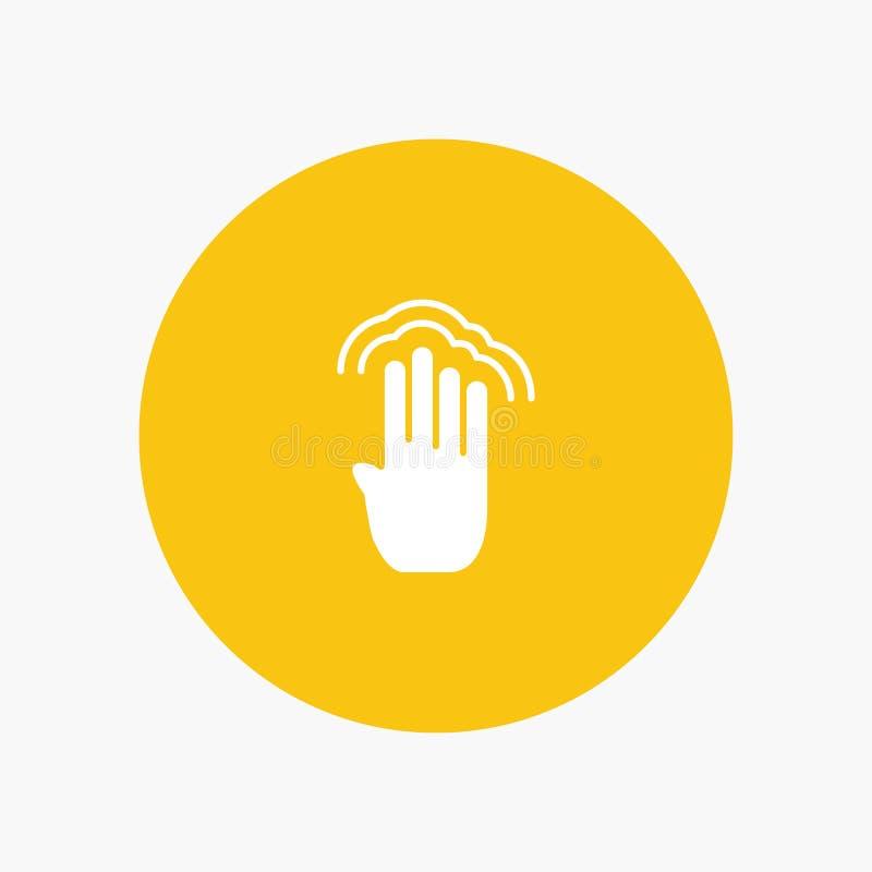 Vingers, Vier, Gebaren, Interface, Veelvoudige Kraan royalty-vrije illustratie