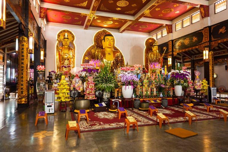 Vinh Nghiem Temple, Ho Chi Minh immagine stock libera da diritti