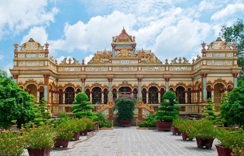 Vinh Trang Pagoda Vietnam stock photo