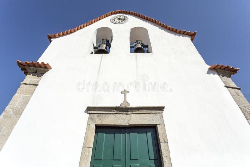 Vinhais Church of Our Lady of the Assumption. Facade of the Church of Our Lady of the Assumption, a simple church built in the 18th century within the walls of royalty free stock images