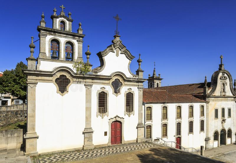 Vinhais Church of Saint Francis and the Seminary of the Apostolic Missionaries. Facade of the Church of Saint Francis and the Seminary of the Apostolic stock photography