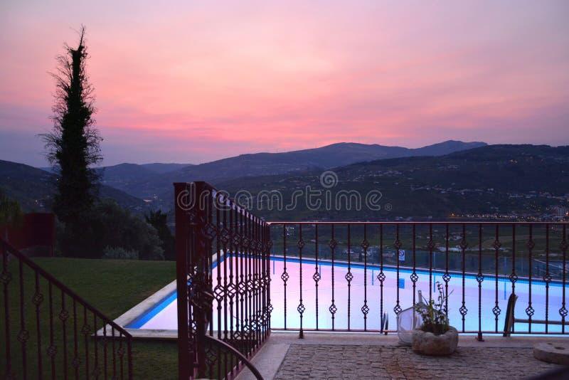 Vinhedo no peso a Dinamarca Regua em Alto Douro Wine Region, Portugal imagens de stock royalty free