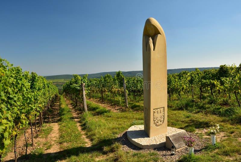 Vinhedo Região do vinho, Moravia sul - República Checa foto de stock