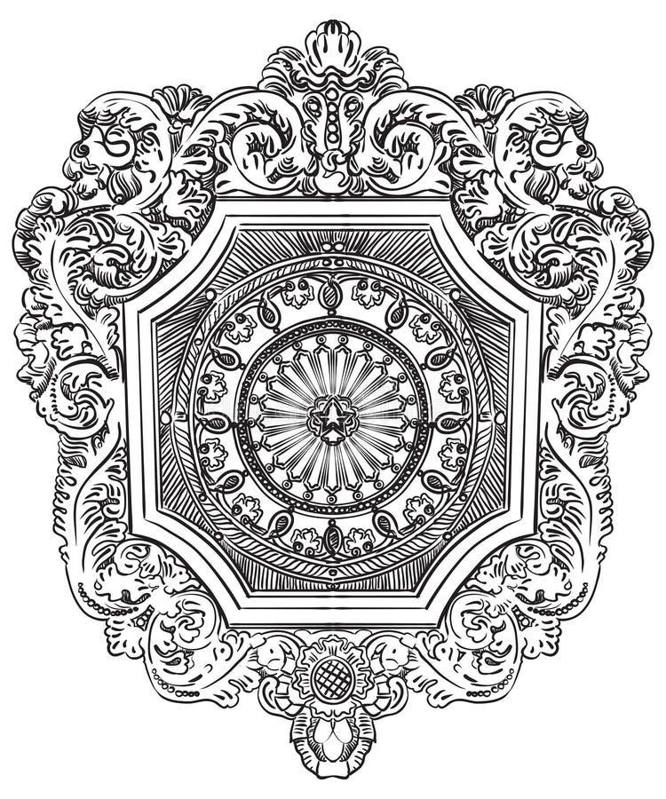 Vinheta botânica do vetor velho ilustração stock