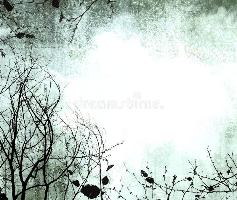 Vinheta do inverno ilustração stock