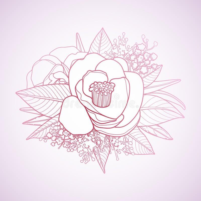 Vinheta floral gráfica ilustração royalty free