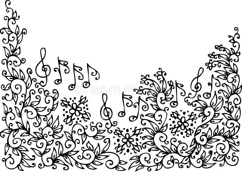 Vinheta musical XXXV ilustração stock
