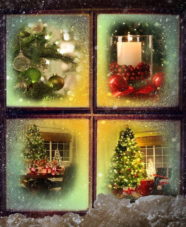 Vinhetas de cenas do Natal imagem de stock royalty free