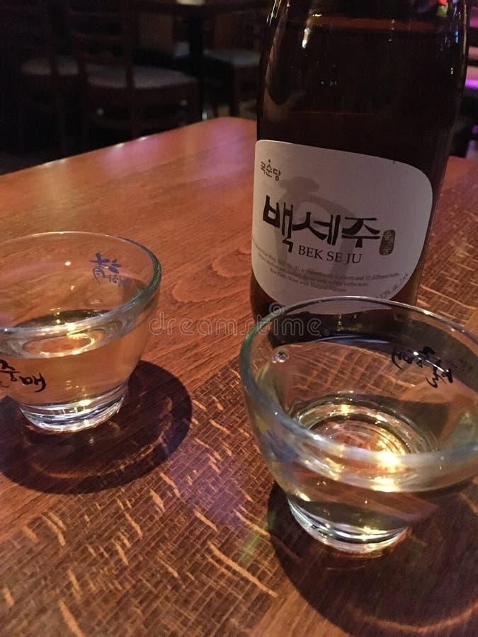 Vinho coreano fotografia de stock