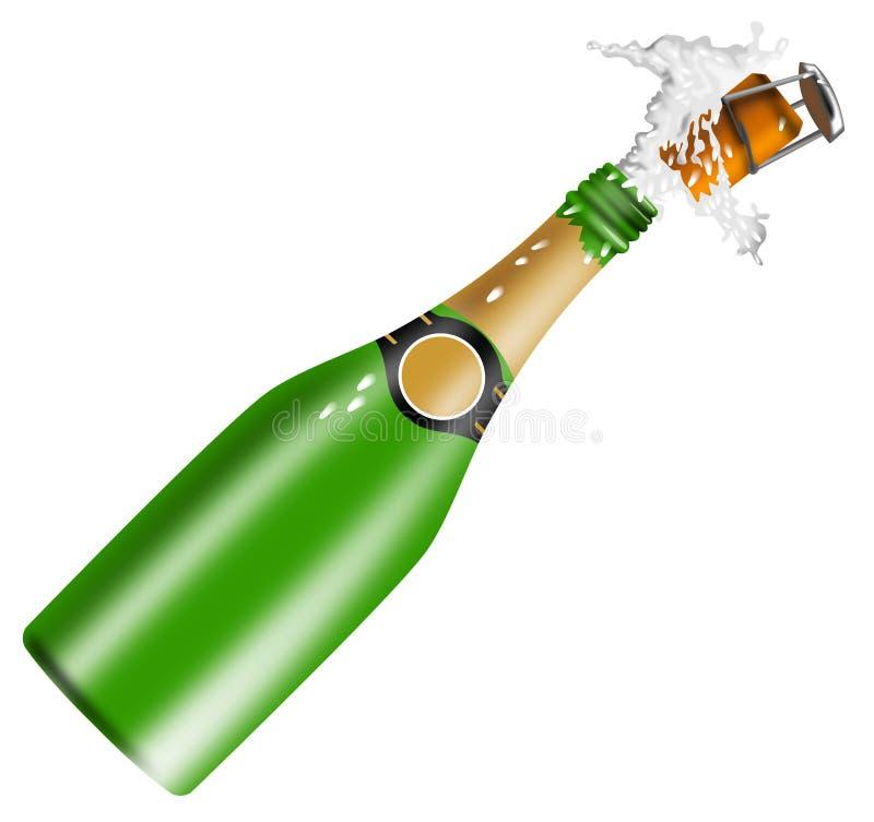 Vinho de Champagne ilustração royalty free