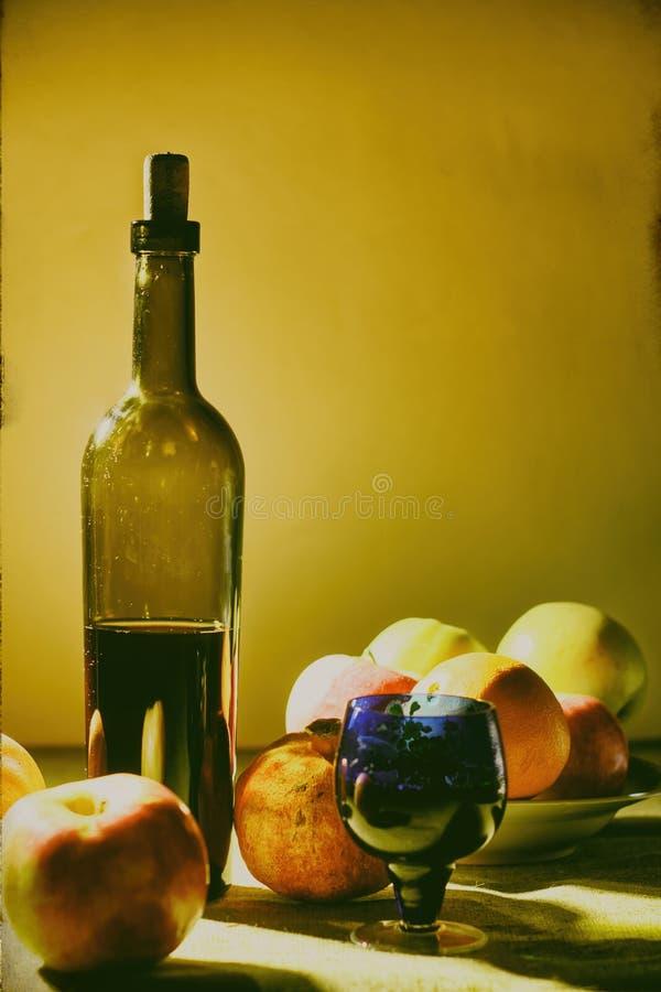 Vinho de fruto fotografia de stock