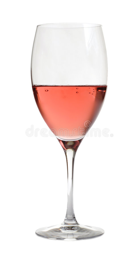 Vinho de Rosa no cristal, fotografia de stock
